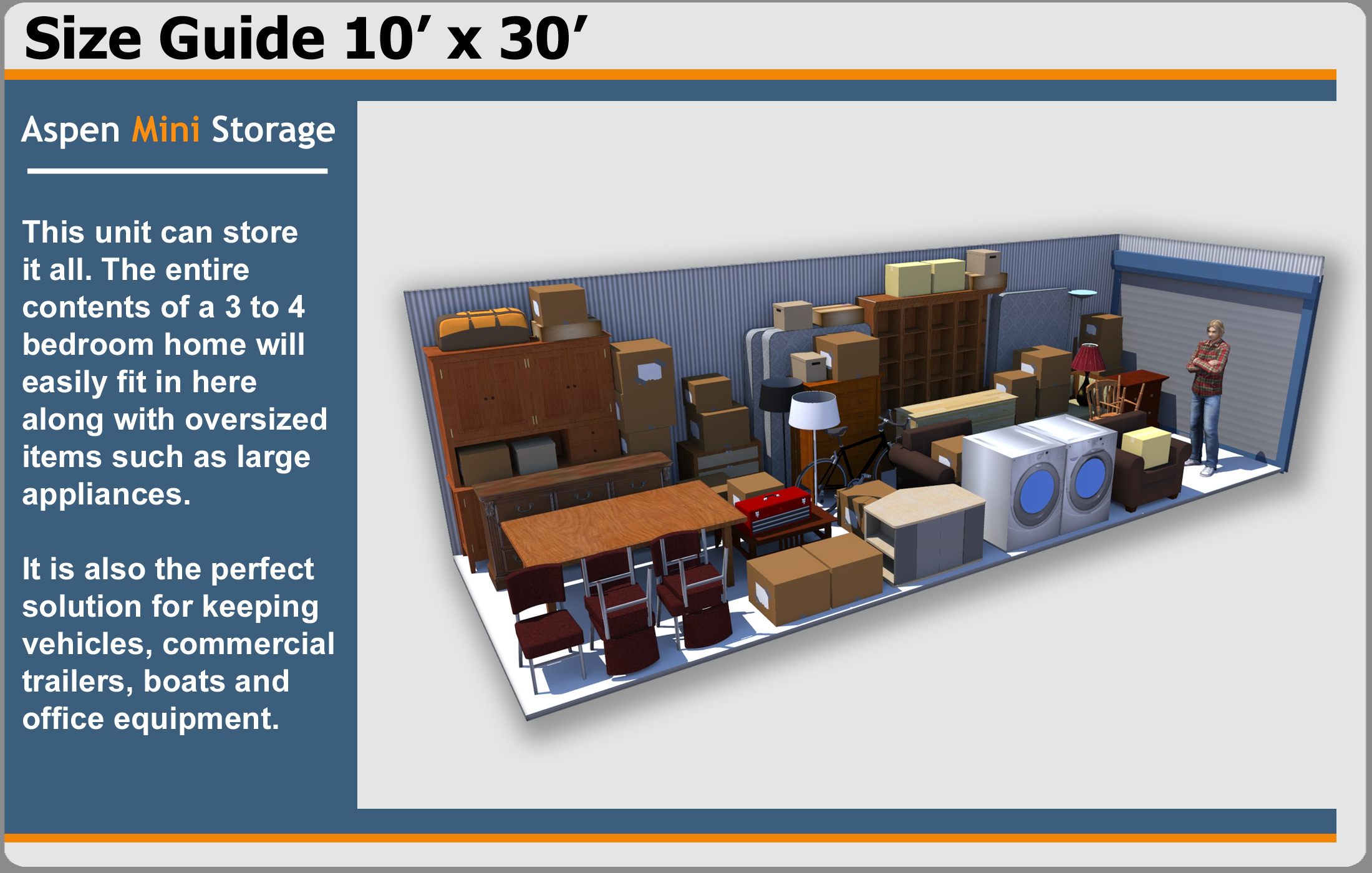 Unit Sizes Aspen Mini Storage